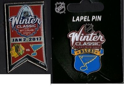 2017 Winter Classic Dueling Team Pin + St. Louis Blues Puck Style Collector Pin