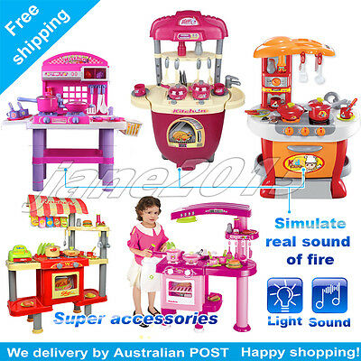 Kitchen Educational Pretend Role Play Set Cooking Selling Oven Toy Xmas gift
