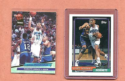 Alonzo Mourning Hornets 1992 1993 Topps Ultra Rookie Basketball Card Lot