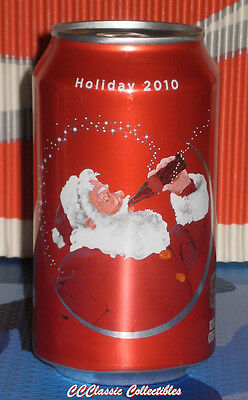 2010 Christmas Holiday can Coca-Cola Classic - LAST year for Santa Coke cans