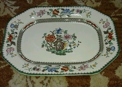 """Spode CHINESE ROSE 12 1/2"""" Oval Serving Platter  Very CLEAN"""