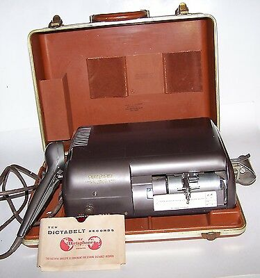 Vintage 1950's Dictaphone Time Master with Carry Case - Microphone