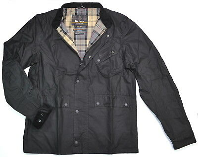 BARBOUR INTERNATIONAL Ouston Waxed Cotton Motorcycle Jacket