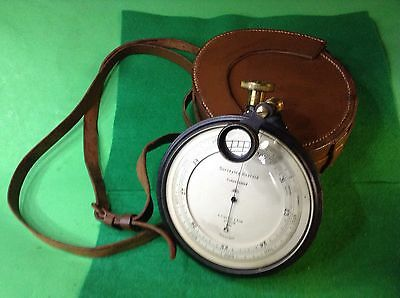 Antique Surveying Railroad Aneroid Barometer Er Watts & Son