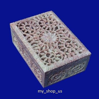 Marble Jewelry Box Carving Stone Arts Handicraft Home Decorative Best Gifts