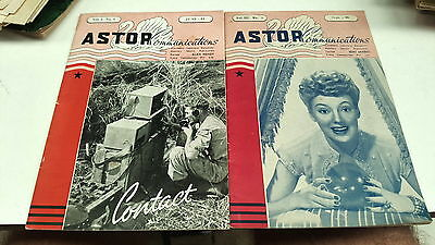 June 1944 & Sept 1946 ASTOR RADIO Magazines RARE