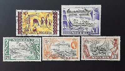 Nigeria Vintage Top Values Various Fine Used Stamps Collection CV £26.00