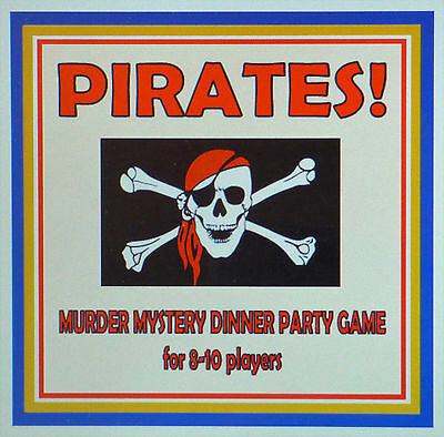 Host A Pirates Murder Mystery Dinner Party Game ~ For 8-10 Players*