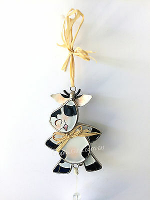 Cow Ornament Wind Chime Garden Hanging Mobile Windchime NEW