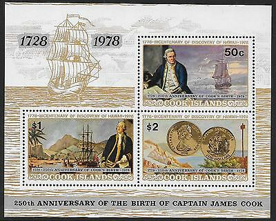 COOK IS: 1978 250th ANNIVERSARY OF COOK'S BIRTH MINI SHEET, MNH, 5059
