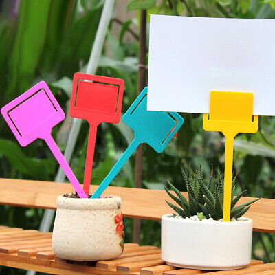 20pcs 18x6.5cm Plastic Plant Pot Markers Garden Nursery Stake T-type Tags Labels