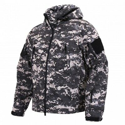 US SPEC OPS Army camo TACTICAL SOFT SHELL JACKET JACKE Subdued Urban Digital M