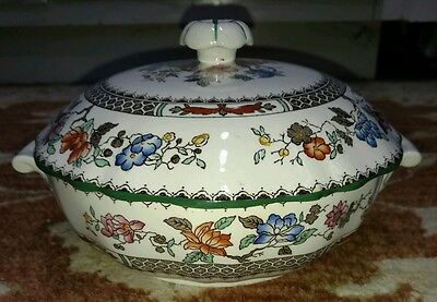 Spode CHINESE ROSE Round Covered Vegetable Bowl with Lid IMPERIALWARE