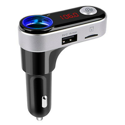 Bluetooth Car MP3 Player FM Wireless Transmitter Handsfree USB SD LCD Charger