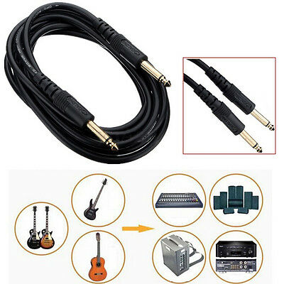 3M 10FT 6.35mm Guitar AMP Instrument Patch Straight JACK Male Lead Cable Cord to