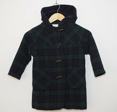 Vintage Laura Ashley coat age 2-3 years Mother & Child navy blue green check