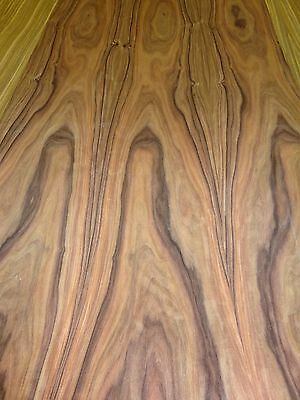 """Rosewood South American wood veneer 24"""" x 120"""" with paper backer 1/40th"""" thick"""