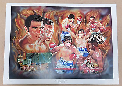 Marco Antonio Barrera v Prince Naseem Hamed Caricature Poster/Print/Photo Huge