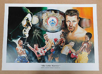 Steve Collins The Celtic Warrior Caricature Poster/Print/Photo Huge