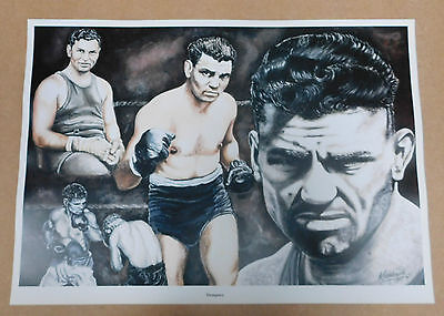 Jack Dempsey Caricature Poster/Print/Photo Huge