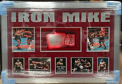 Framed Mike Tyson Signed Boxing Glove World Champion Iron Mike Reyes RARE COA