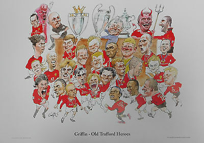 Manchester United Legends Old Trafford Heroes Caricature Poster/Print/Photo