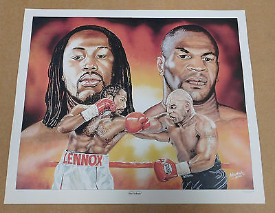 Mike Tyson v Lennox Lewis Caricature Poster/Print/Photo Huge