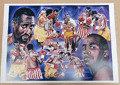 Tommy Hearns The Hitman Caricature Poster/Print/Photo Huge