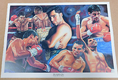 Oscar De La Hoya Golden Boy Caricature Poster/Print/Photo Huge