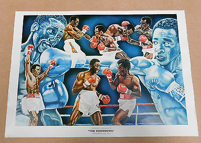 Sugar Ray Leonard v Tommy Hearns Caricature Poster/Print/Photo Huge