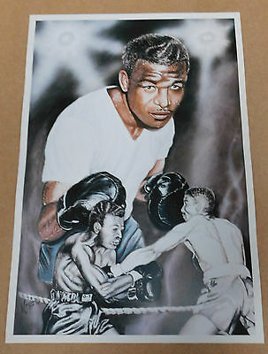 Sugar Ray Robinson Caricature Poster/Print/Photo Huge