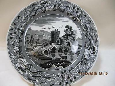 Spode Black Transferware Traditions Series Archive Collection LUCANO cabinet plt