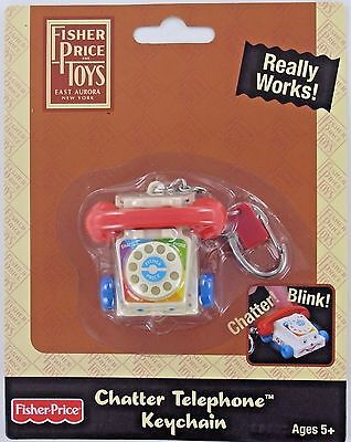 Fisher-Price CHATTER TELEPHONE Keychain Keyring F-P Phone Miniature Doll Retired