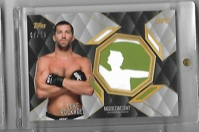 2016 Topps UFC Top Of the Class #TCR-LR Luke Rockhold Jumbo Relic Silver 7/25