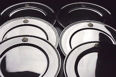 "Tiffany & Co Sterling Silver 11"" Inch  6 Charger Dinner Plates  122.9 Troy Oz"
