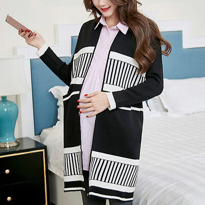 Popular Pregnant Women Sweater Thick Warm Maternity Cardigan Fashion Lady Coat