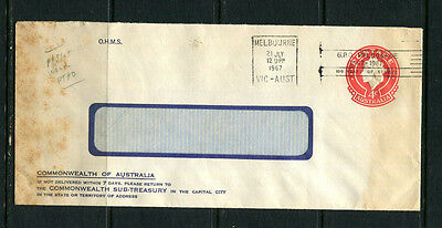 Australia 1967 Ppe Pse Embossed Stamp Cover Ohms Official Commercial Mail