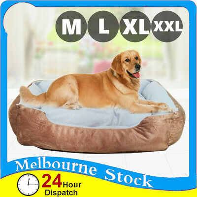 Brown Soft Mattress Dog Cat Pad Pet Bed Mat Cushion Pillow Warm Extra Large M L