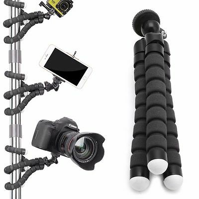 Flexible Tripod Gorilla Stand Monopod Mount Holder Octopus for GoPro Camera BK