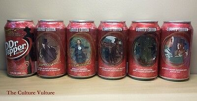 Dr Pepper Can Set Indiana Jones - Dr. Pepper Drained 5 Cans + 1 Double