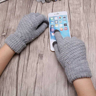 Women Warm Wool Stretch Touch Screen Gloves Knit Mittens Winter Accessories