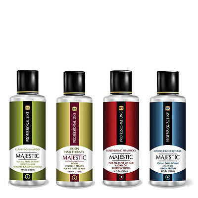 Majestic Hair BIOTIN Therapy complete Kit 4OZ ( 125ml) - Formaldehyde Free-USA