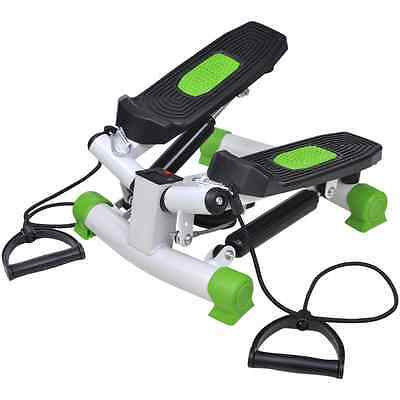 Swing Stepper With Resistance Rope Cords Home Fitness Exercise Machine Cardio