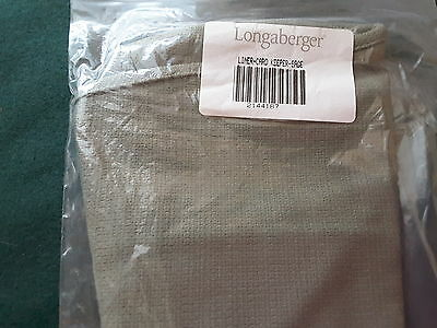 Longaberger liner  for the cardkeeper. Sage.  New In Bag