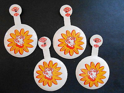 Lot of 4 Vintage Borden Dairy Elsie the Cow Fold Tab Advertising Pinback Pins