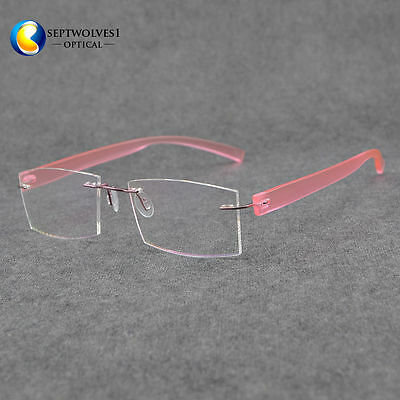 Oversized Metal Temple Rimless Sunglasses Hаlf Frame Color Lens Women Fashion
