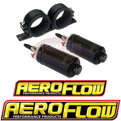 2 x Aeroflow 650hp EFI External Fuel Pumps Bosch 044 Pumps & Bracket suit 1200hp