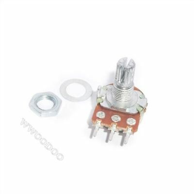 10Pcs Panel Pot B5k 15Mm Rotary Potentiometer Linear Taper 5K Ohm New Ic S