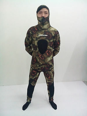New 5mm Camo Camouflage Full Body Hooded Wetsuit SCUBA Diving Spearfishing Suit