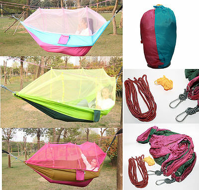 Double Hammock ultralight Bed Swing Outdoor Mosquito Net Portable 260*140cm